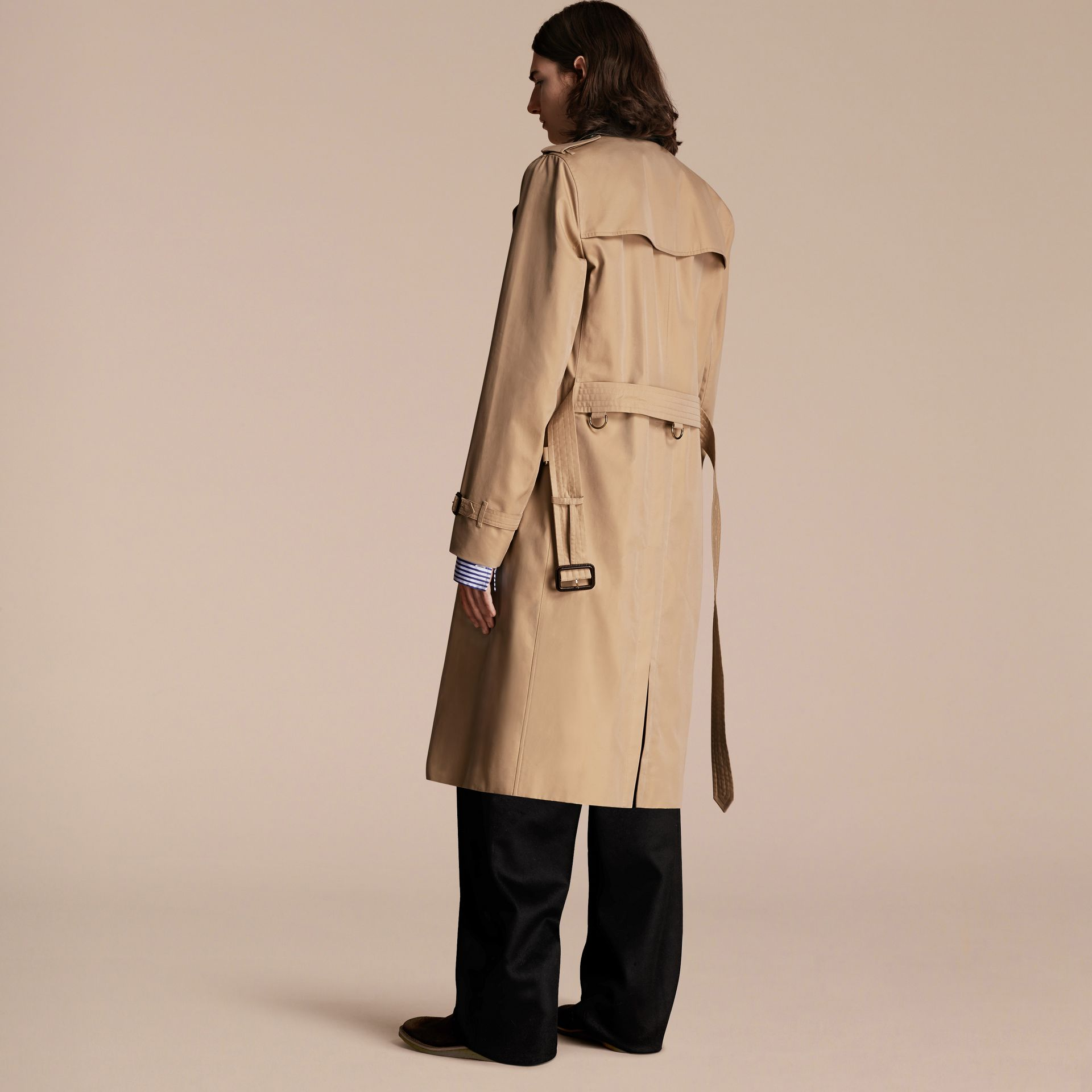 Honey Deconstructed Cotton Gabardine Heritage Trench Coat - gallery image 3