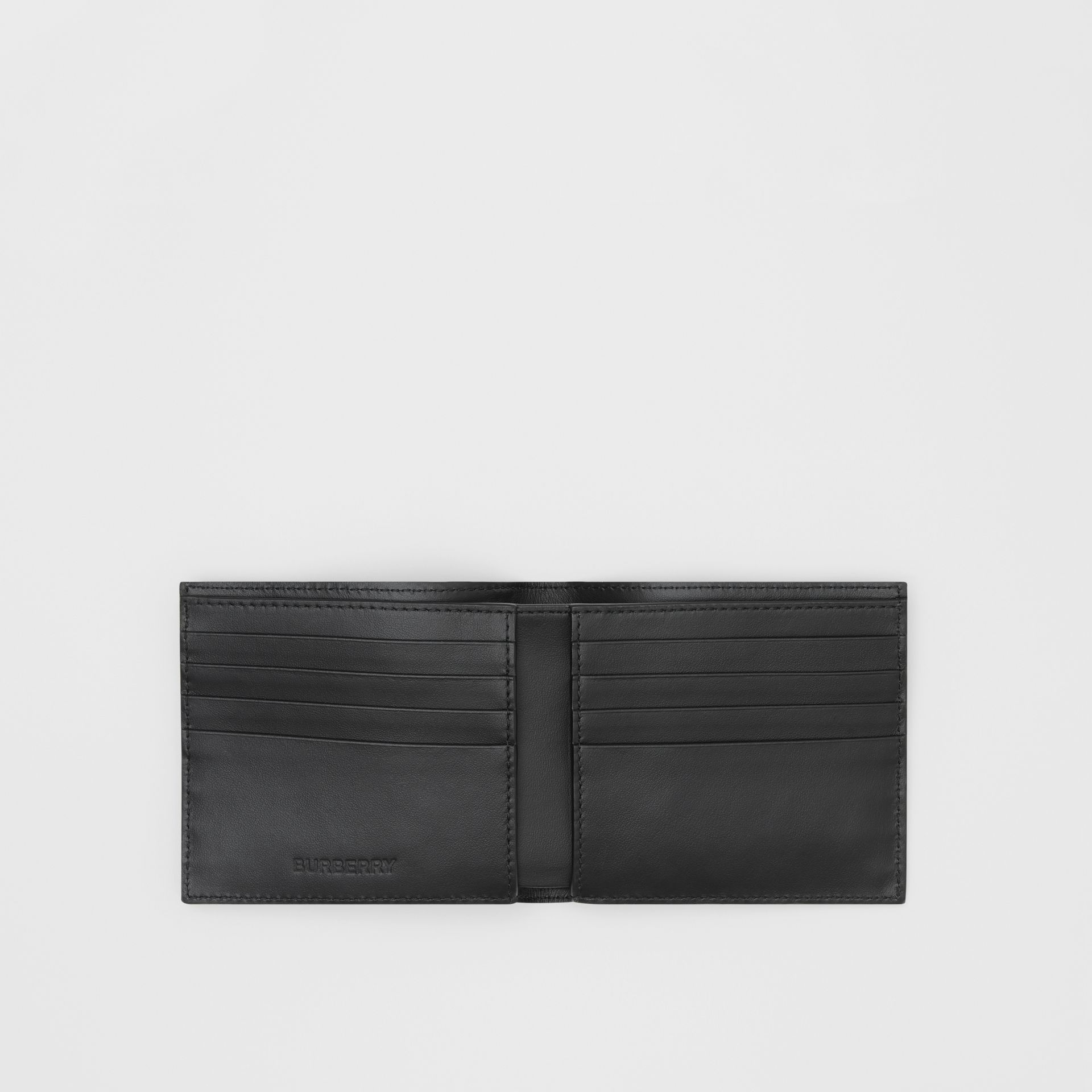 Logo Graphic Canvas International Bifold Wallet in Black - Men | Burberry - gallery image 2