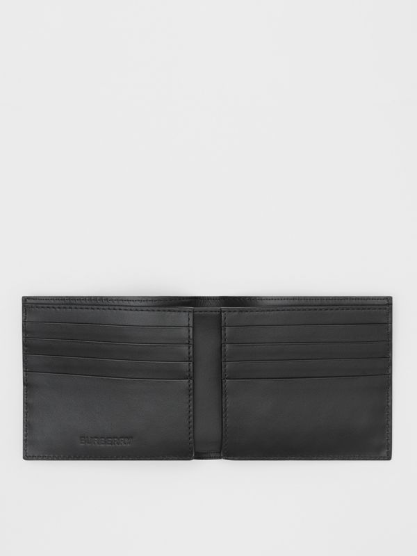 Logo Graphic Canvas International Bifold Wallet in Black - Men | Burberry - cell image 2