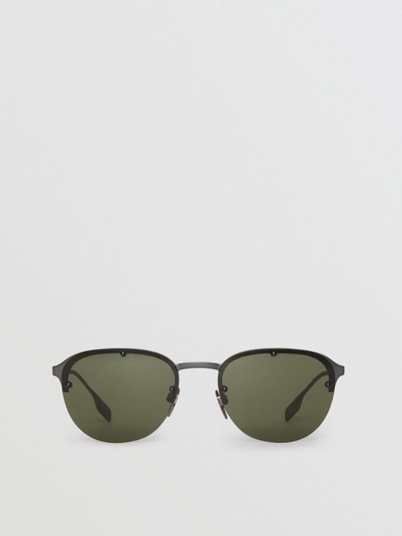 Round Frame Sunglasses in Green