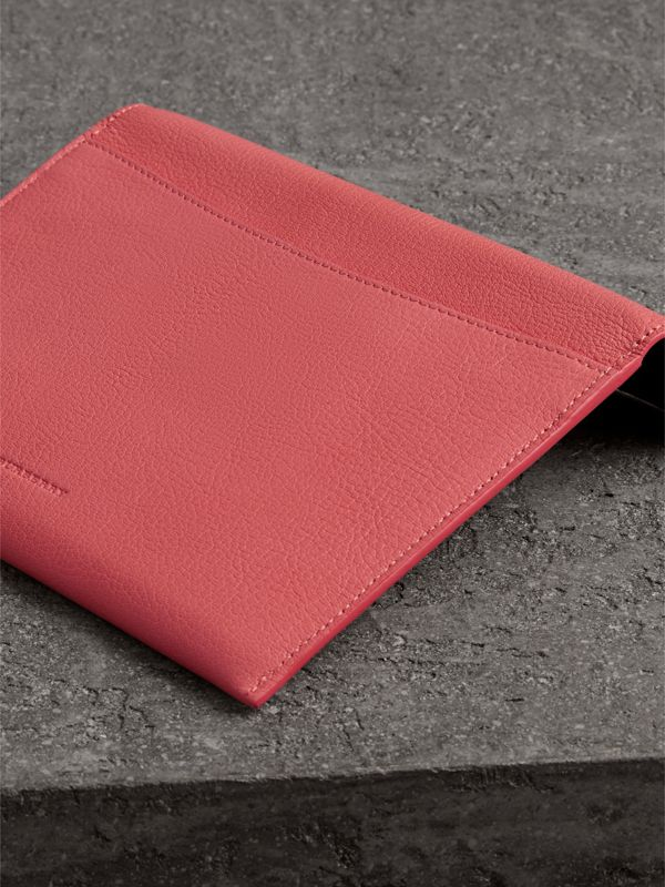 D-ring Leather Pouch with Zip Coin Case in Bright Coral Pink - Women | Burberry - cell image 2