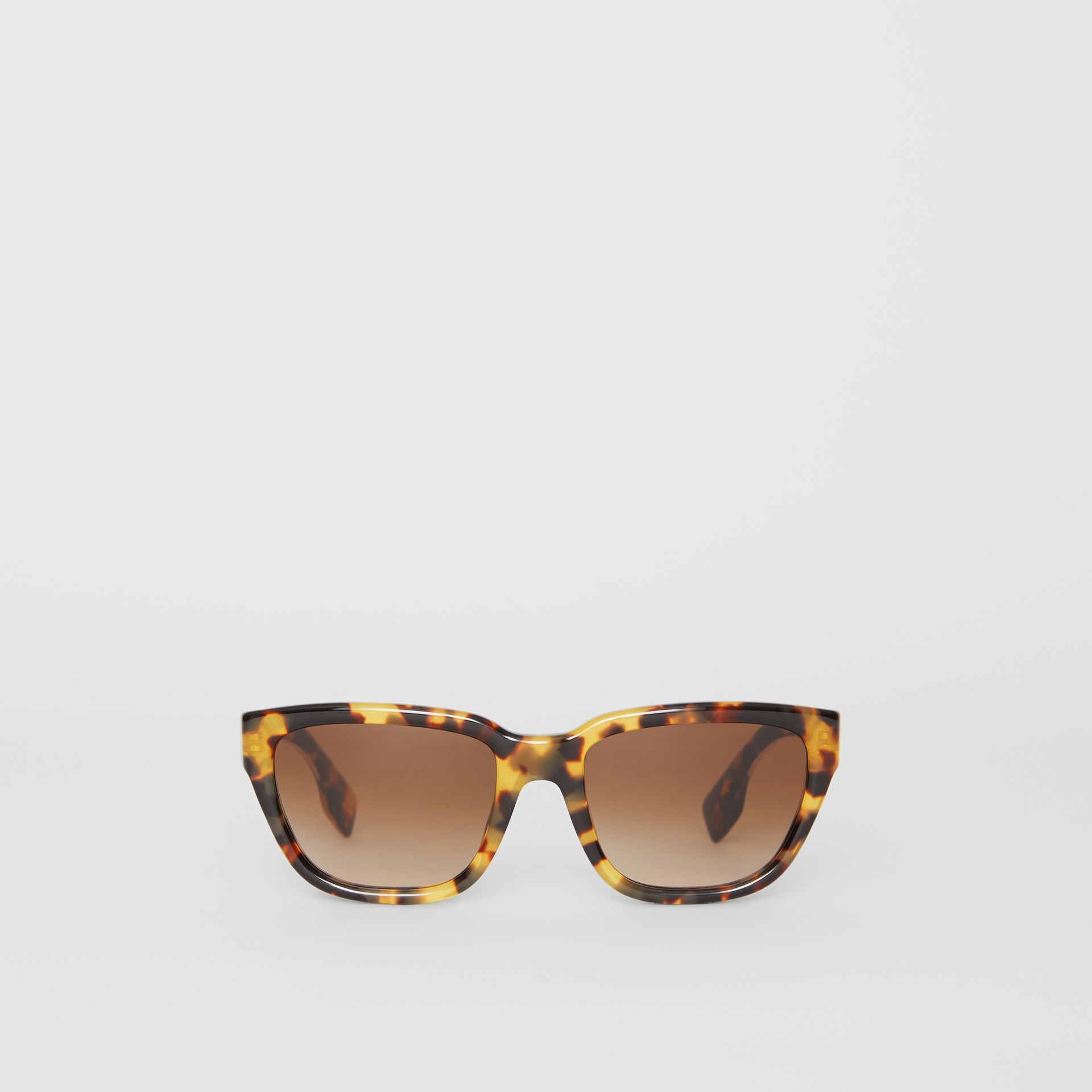 Square Frame Sunglasses in Tortoise Shell - Women | Burberry - gallery image 0