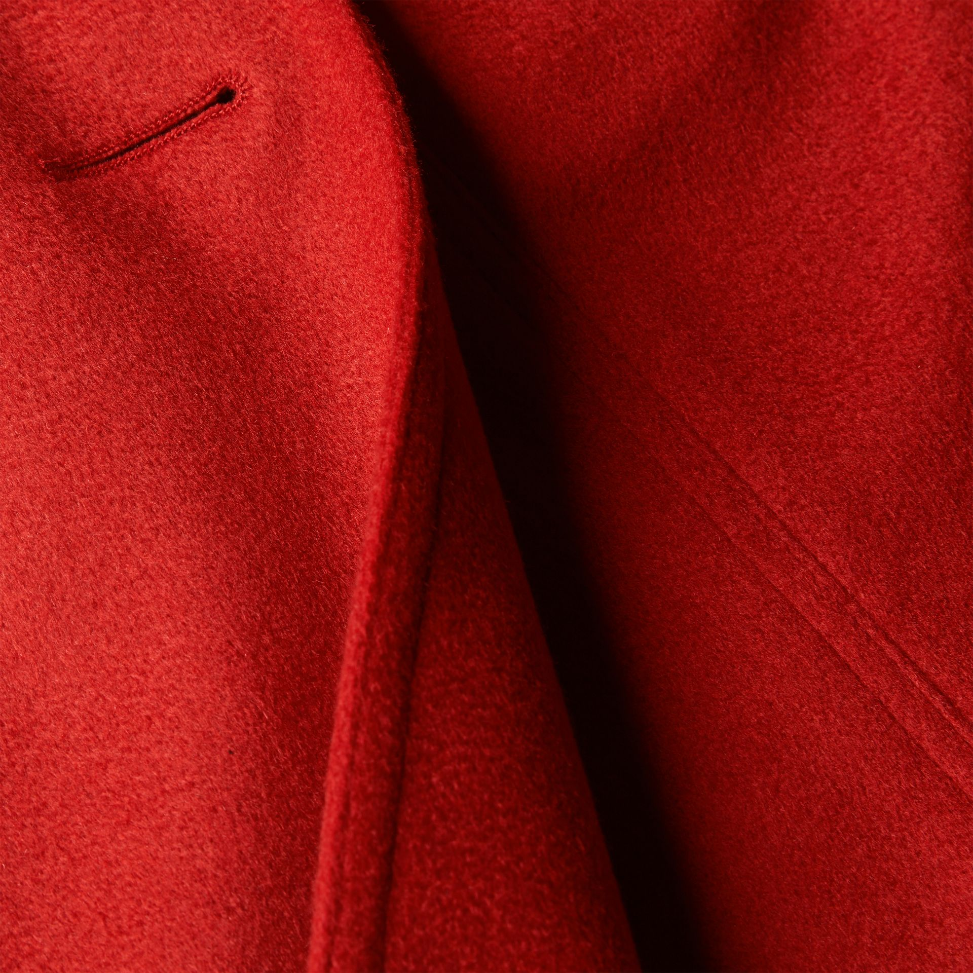 Sandringham Fit Cashmere Trench Coat Parade Red - gallery image 2