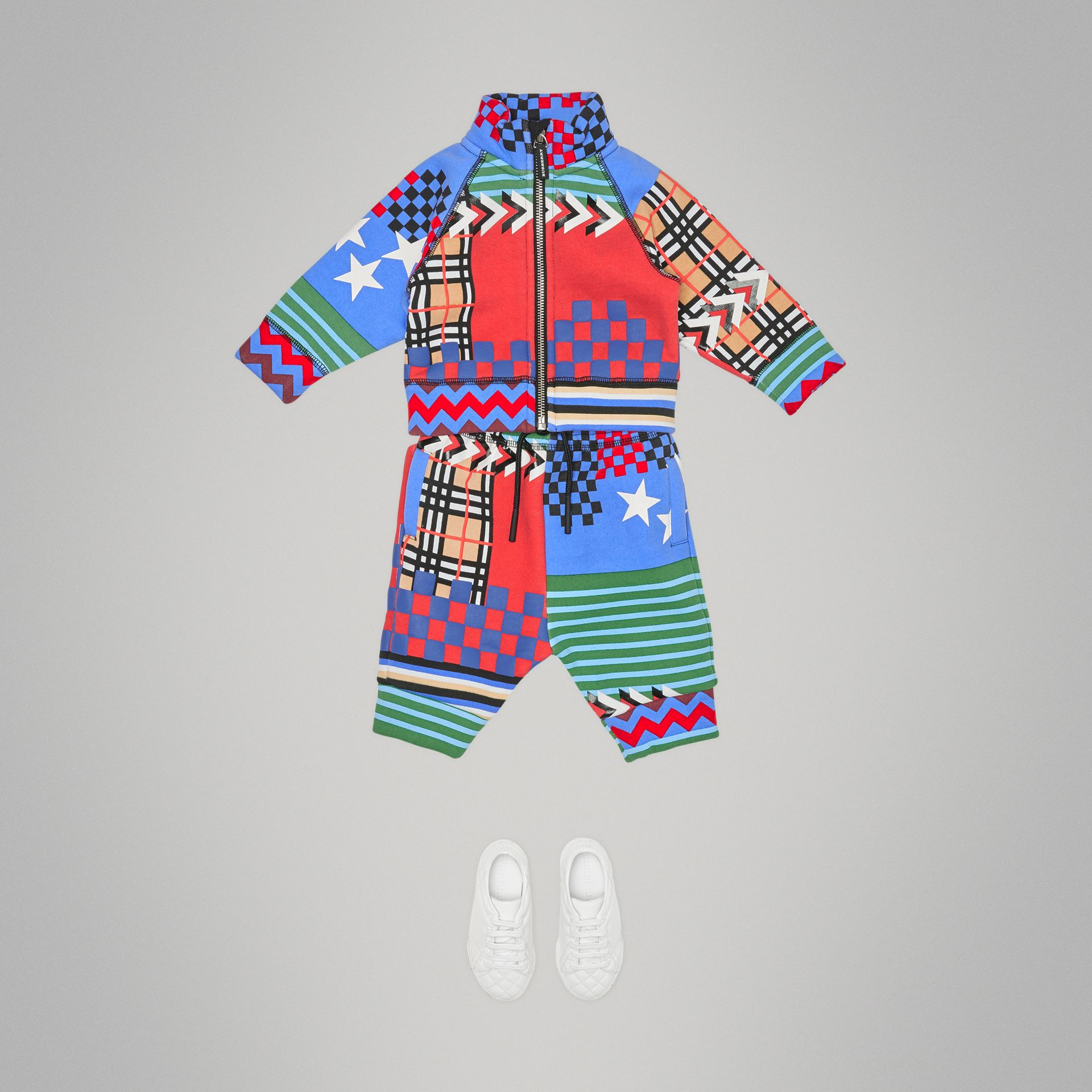 Graphic Print Jersey Track Pants in Multicolour - Children | Burberry - gallery image 2