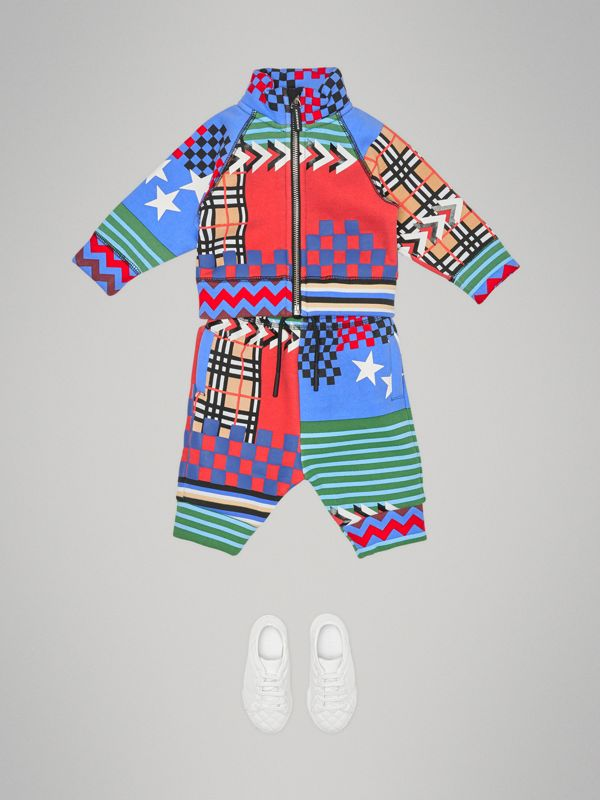 Graphic Print Jersey Track Pants in Multicolour - Children | Burberry United Kingdom - cell image 2