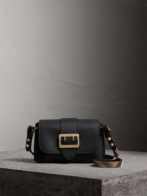 The Buckle Crossbody Bag in Leather in Black - Women | Burberry