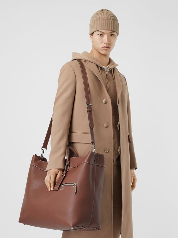 Grainy Leather Holdall in Tan - Men | Burberry Canada - cell image 2