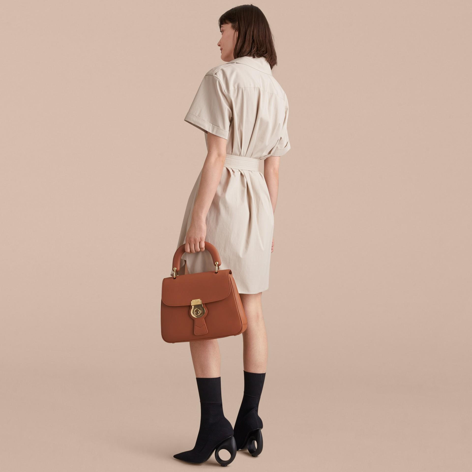 Tie-waist Cotton Shirt Dress - gallery image 3