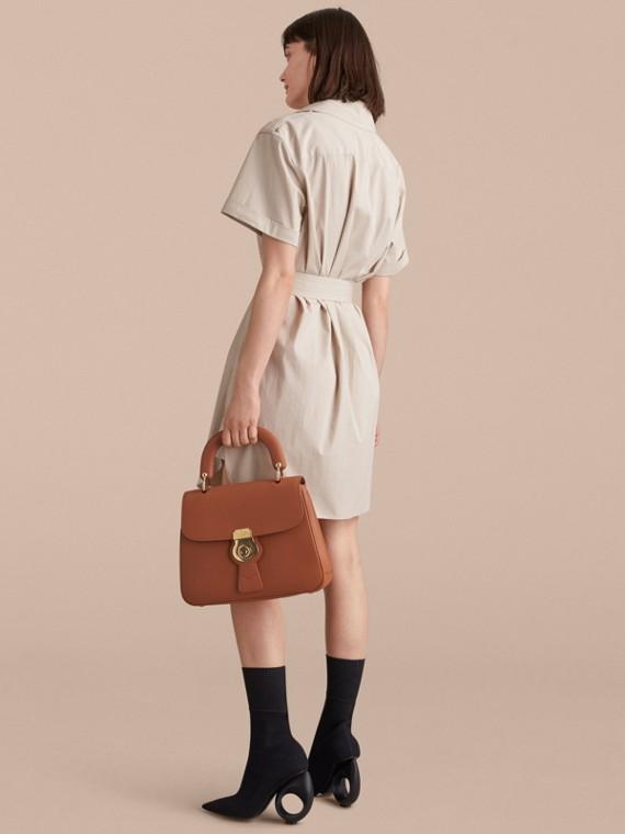 Tie-waist Cotton Shirt Dress - cell image 2