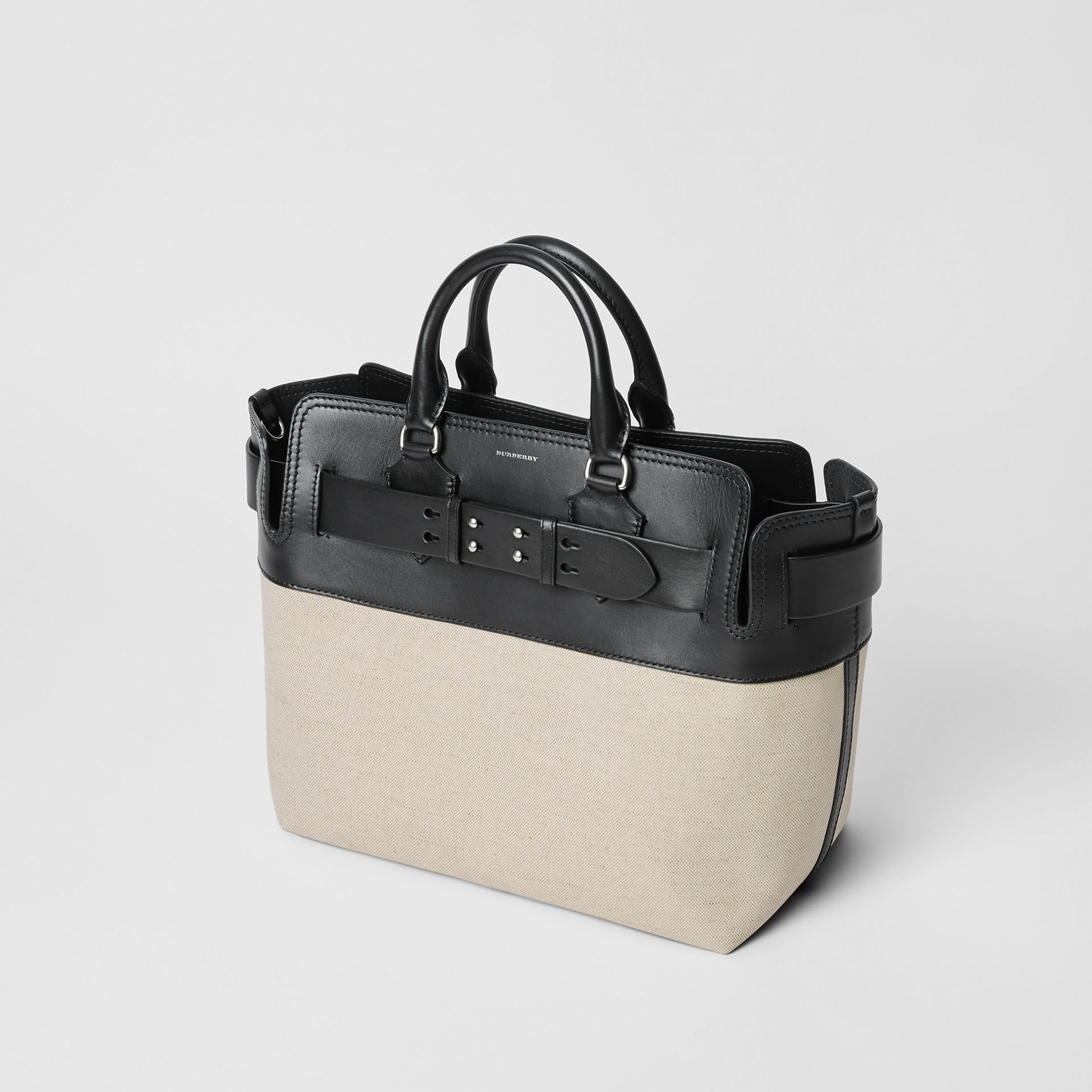 The Medium Canvas and Leather Belt Bag in Black/stone - Women | Burberry - gallery image 4