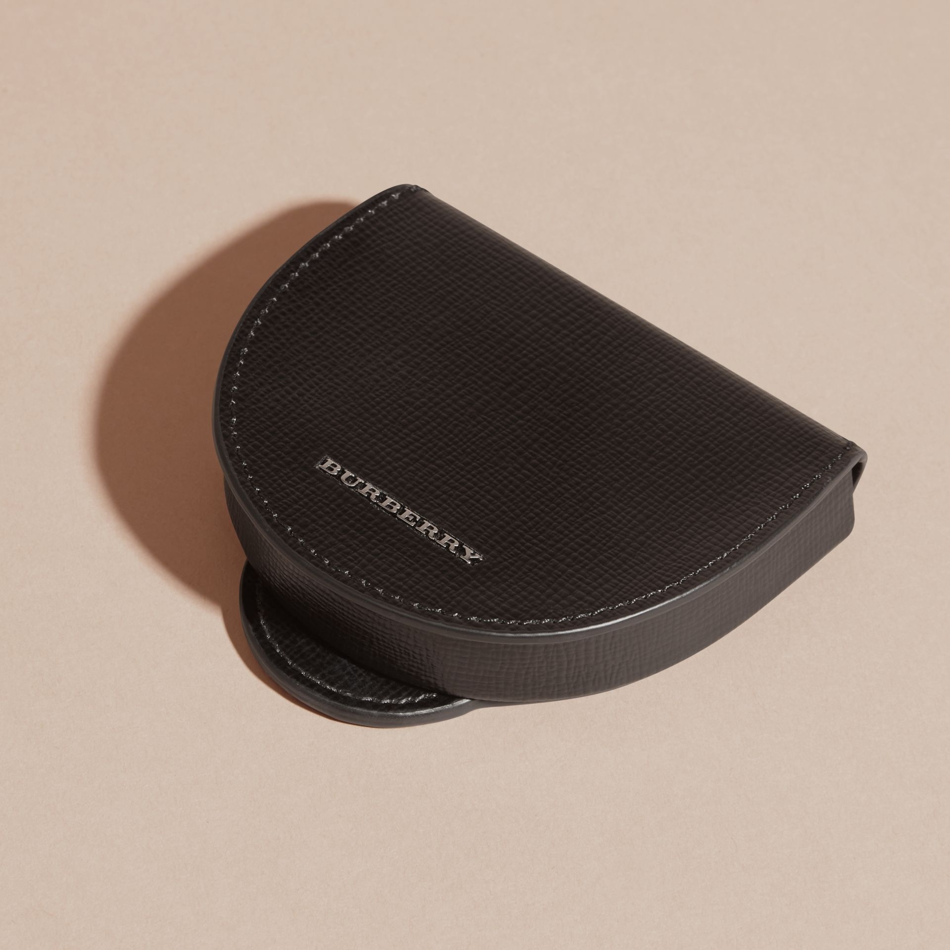 Black London Leather Coin Case Black - gallery image 5