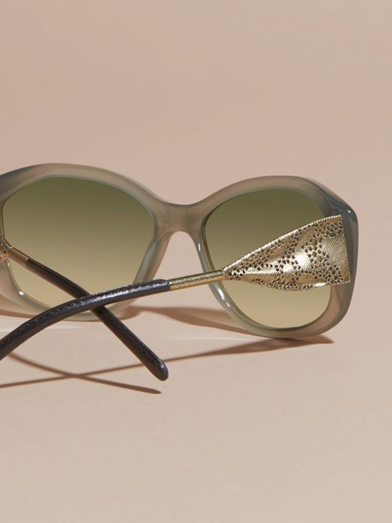 Opal green Gabardine Lace Collection Square Frame Sunglasses Opal Green - cell image 3