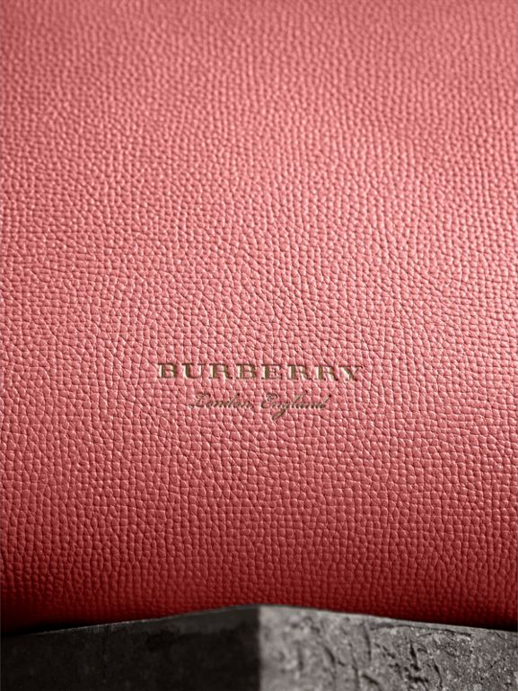 The Medium Banner in Leather and House Check in Mauve Pink - Women | Burberry Australia - cell image 1