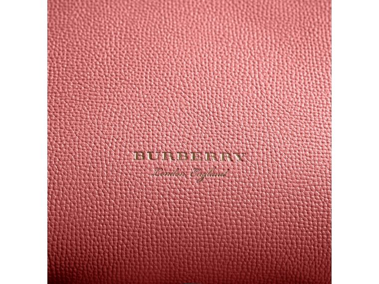The Medium Banner in Leather and House Check in Mauve Pink - Women | Burberry - cell image 1