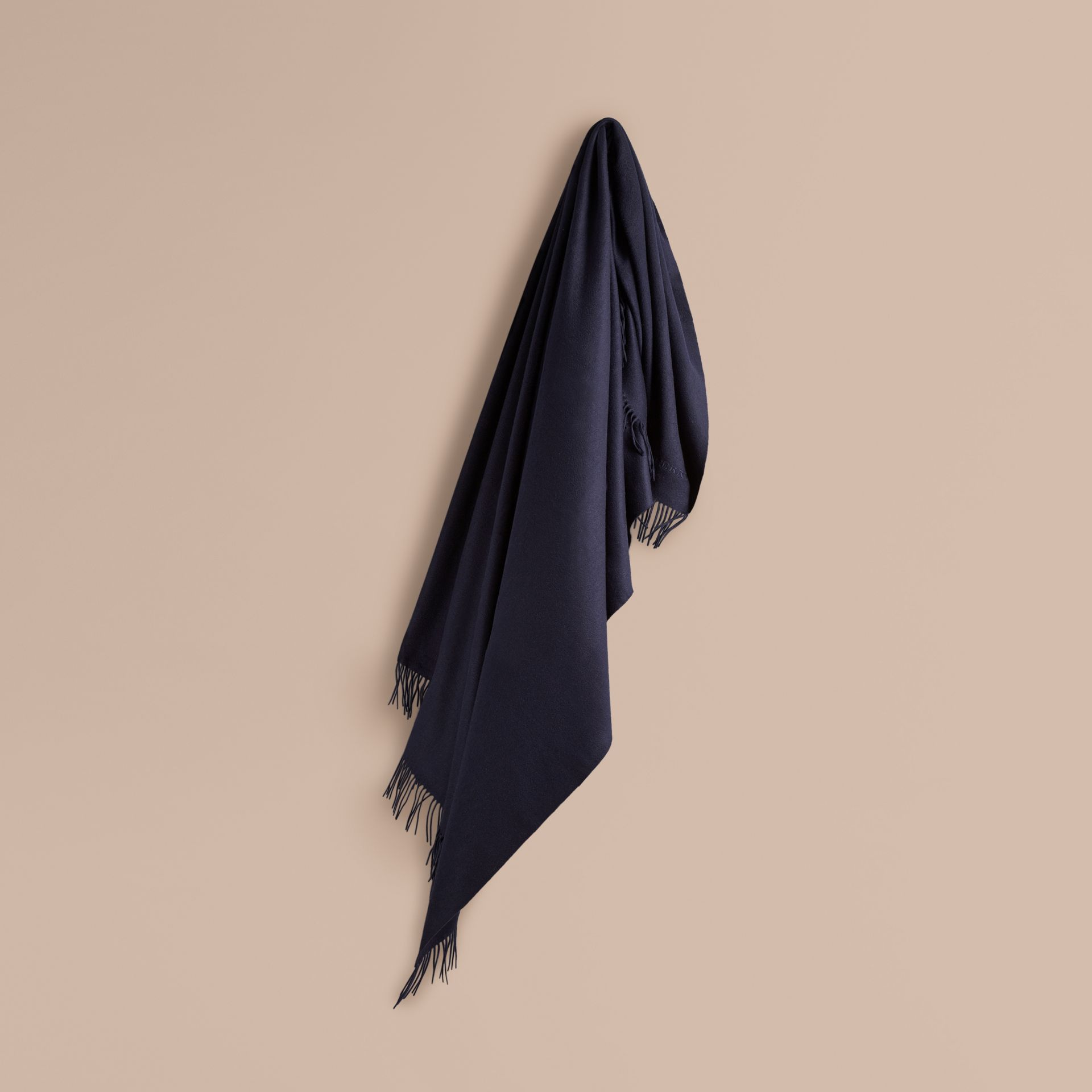 Cashmere Blanket in Navy | Burberry Canada - gallery image 0