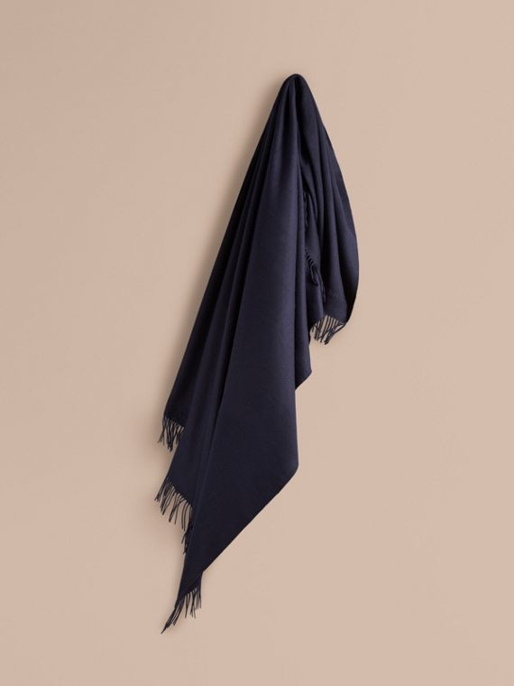 Cashmere Blanket in Navy | Burberry Canada