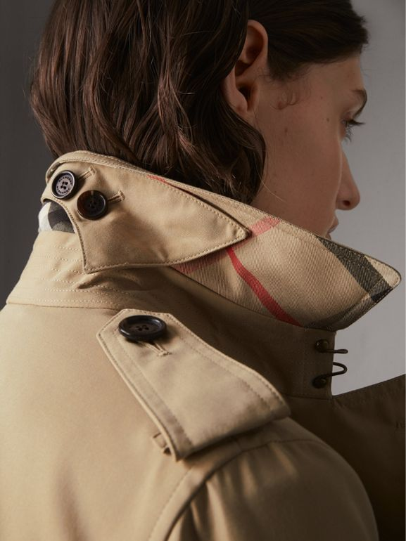 The Kensington – Long Trench Coat in Honey - Women | Burberry United States - cell image 1
