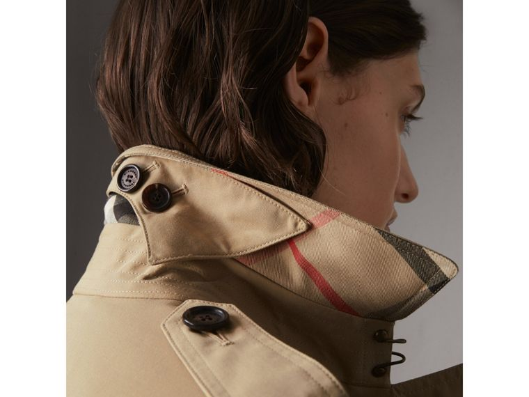 The Kensington – Long Trench Coat in Honey - Women | Burberry Singapore - cell image 1