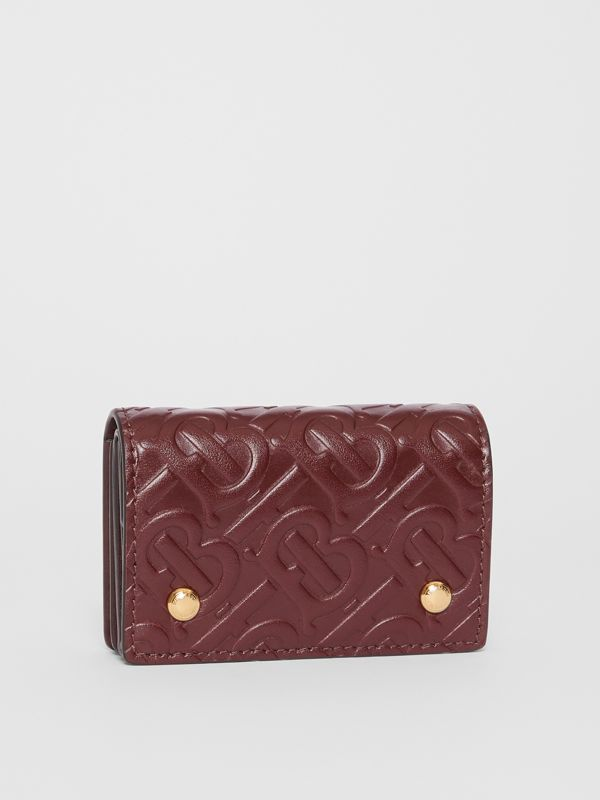 Monogram Leather Card Case in Oxblood | Burberry Singapore - cell image 3