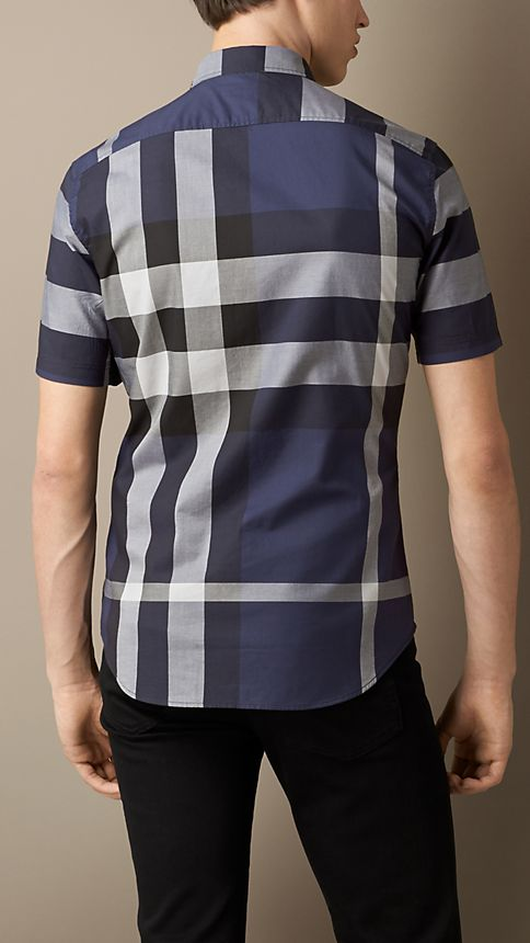 Ink Giant Exploded Check Cotton Shirt - Image 2