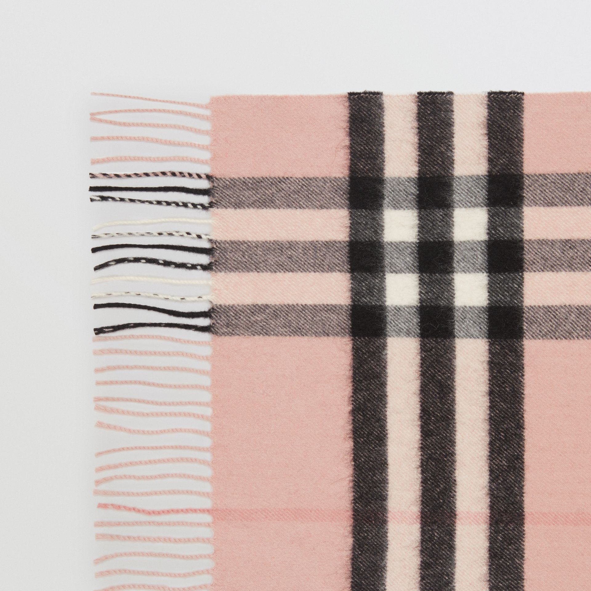 The Classic Check Cashmere Scarf in Ash Rose | Burberry Singapore - gallery image 1