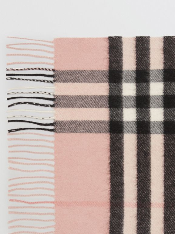 The Classic Check Cashmere Scarf in Ash Rose | Burberry United Kingdom - cell image 1