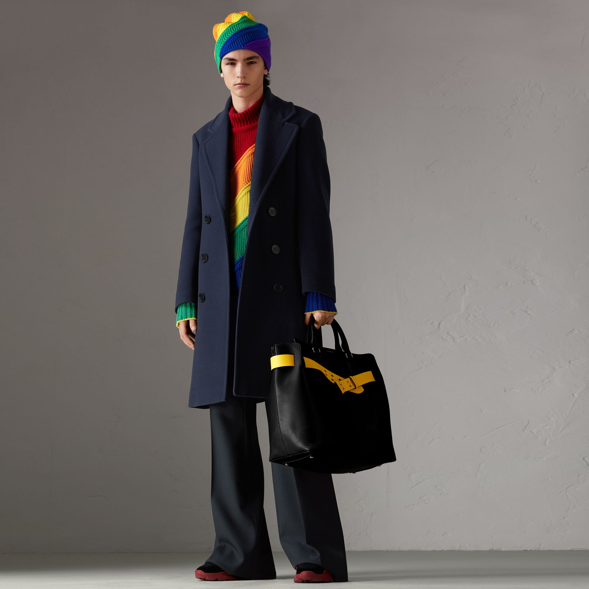 Rainbow Wool Cashmere Sweater | Burberry Singapore - gallery image 0