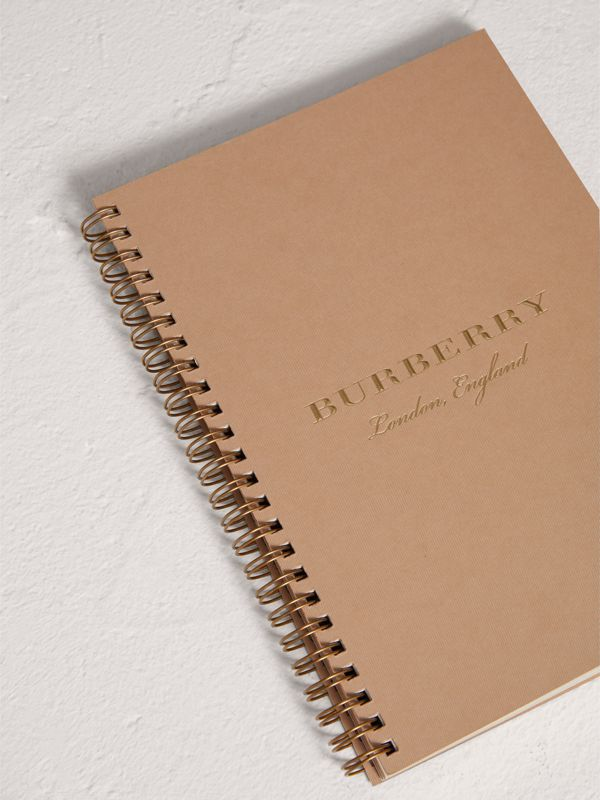 A5 Notebook Refill in Honey | Burberry United Kingdom - cell image 3