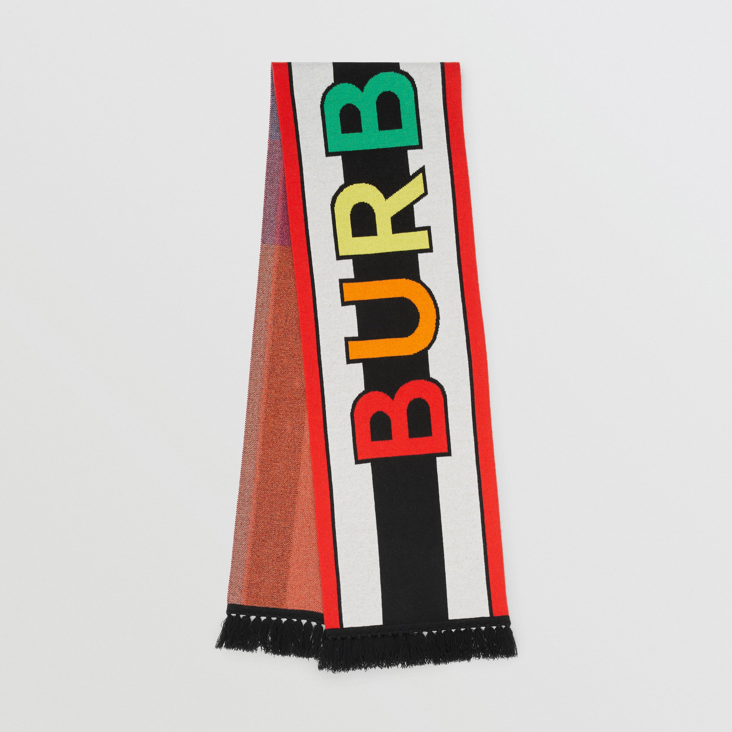 Logo Cashmere Jacquard Scarf in Multicolour | Burberry United Kingdom - 1
