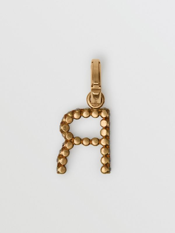 Crystal 'R' Alphabet Charm - Women | Burberry United States - cell image 3