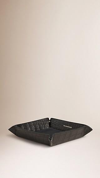 Alligator Leather Trinket Tray