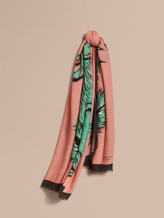 Beasts Print Lightweight Cashmere Scarf - Women | Burberry