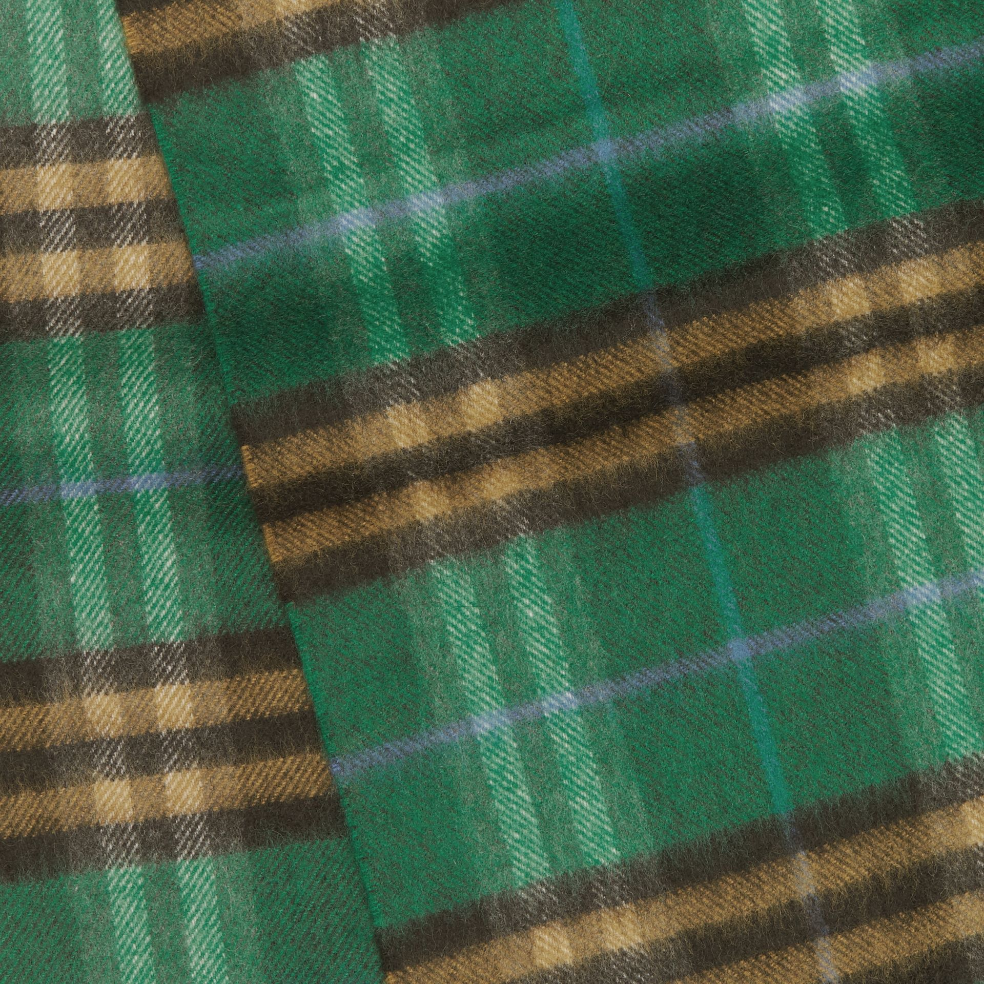 Check Cashmere Scarf in Forest Green | Burberry - gallery image 1