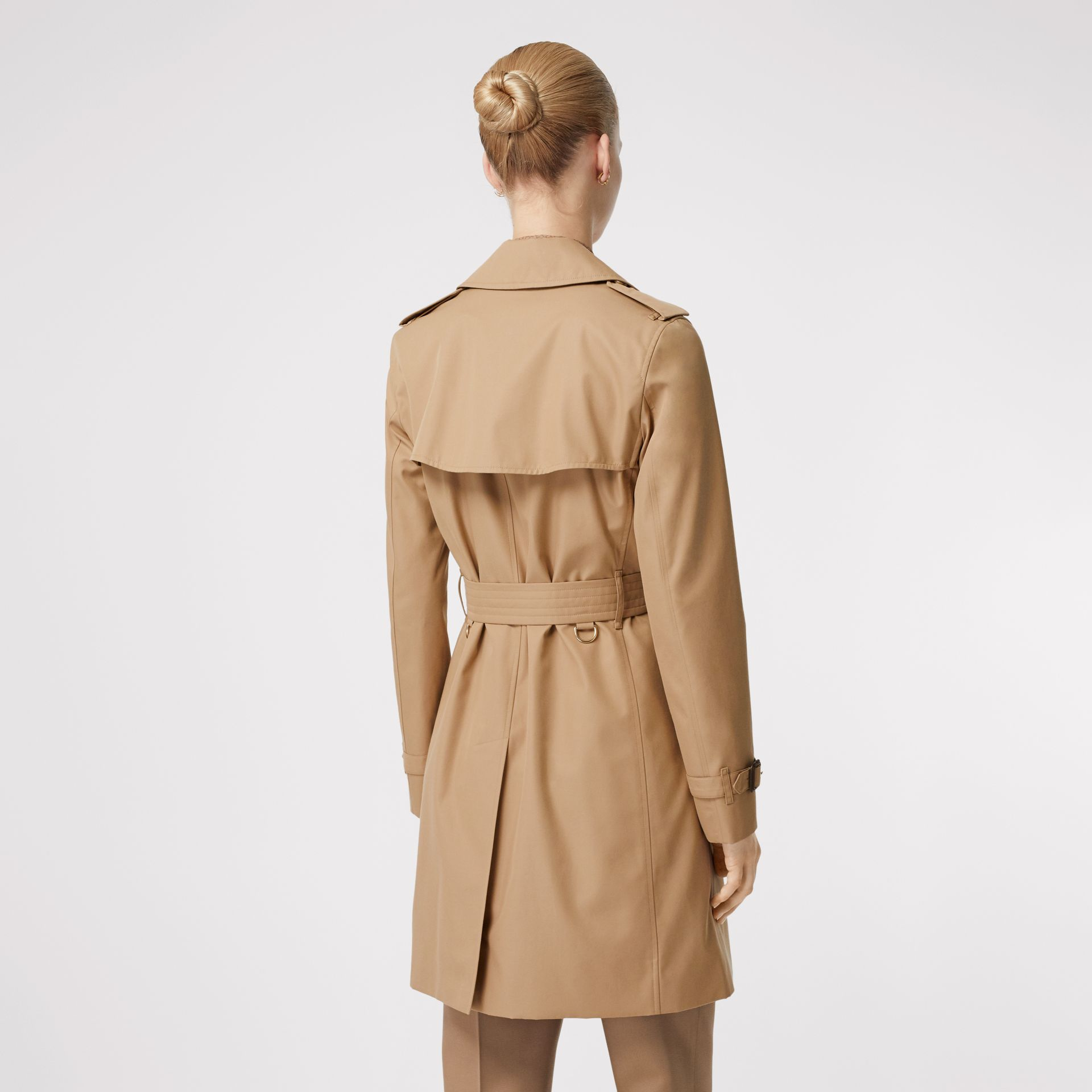 Cotton Gabardine Trench Coat in Biscuit - Women | Burberry - gallery image 2