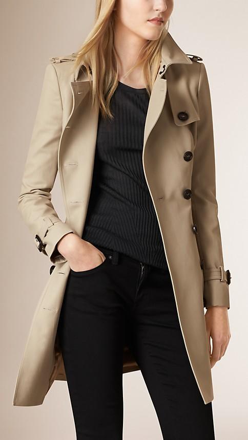 Trench Trench-coat en double sergé de coton - Image 2