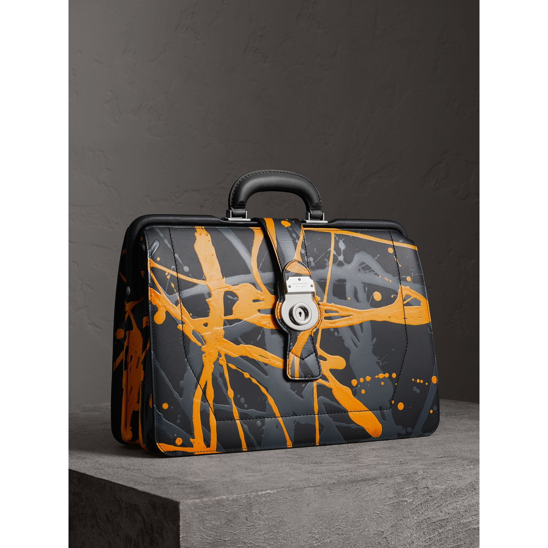 Sac docteur DK88 à imprimé Splash (Noir/splash) - Homme | Burberry Canada - photo de la galerie 6