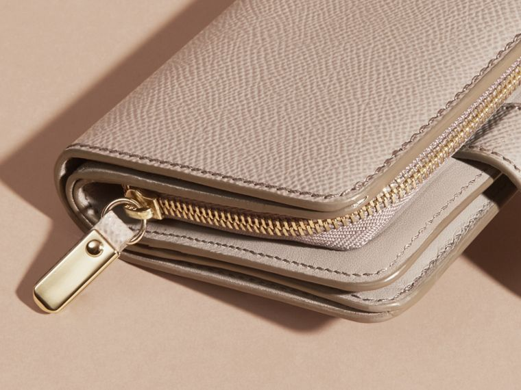 Pale grey Patent London Leather Wallet Pale Grey - cell image 1
