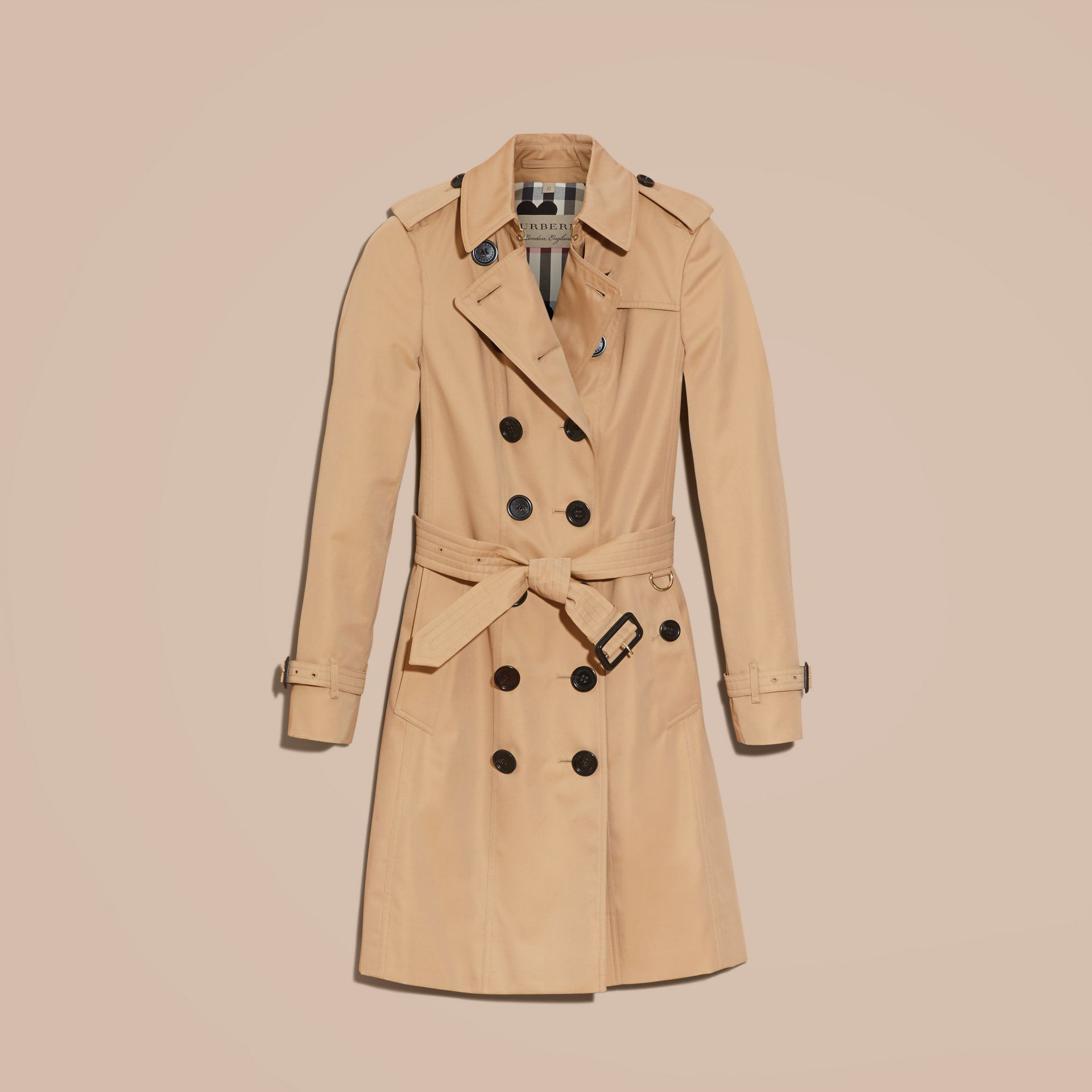 Honey Trench Coat with Check and Heart Lining - gallery image 4
