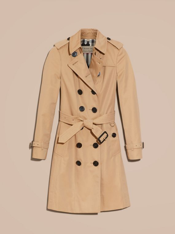 Honey Trench Coat with Check and Heart Lining - cell image 3