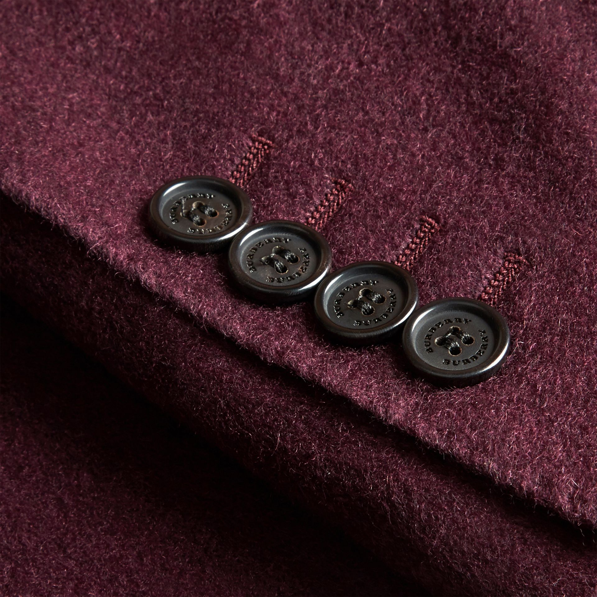 Modern Fit Lightweight Cashmere Tailored Jacket Deep Claret - gallery image 2