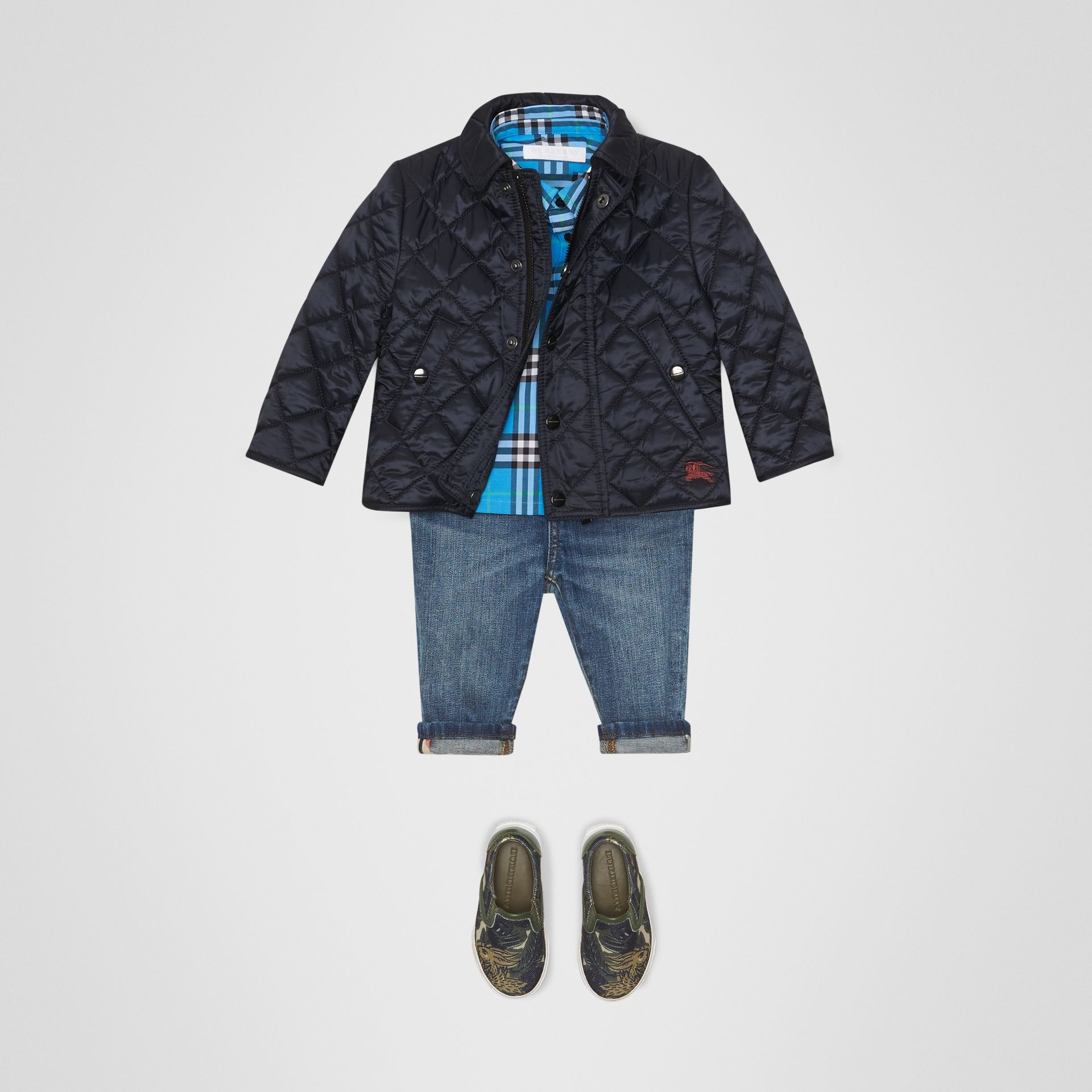 Lightweight Diamond Quilted Jacket in Ink - Children | Burberry Canada - gallery image 2