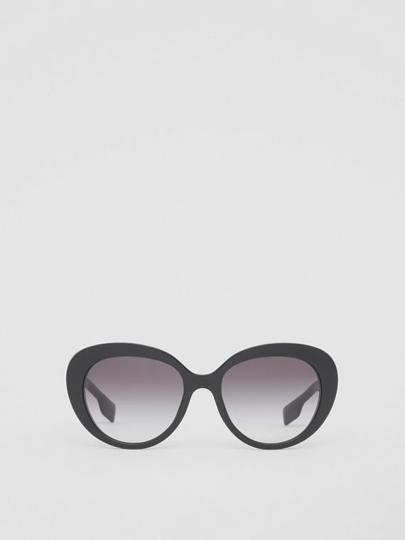 Monogram Motif Cat-eye Frame Sunglasses in Black