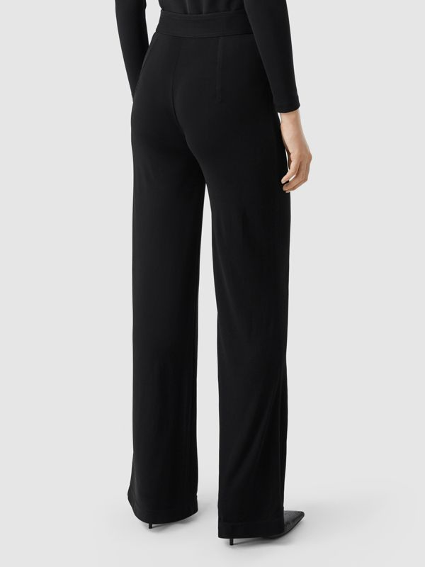 Jersey Wide-leg Trousers in Black - Women | Burberry United Kingdom - cell image 2