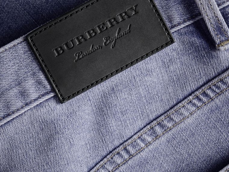 Relaxed Fit Stretch Jeans - Men | Burberry - cell image 1