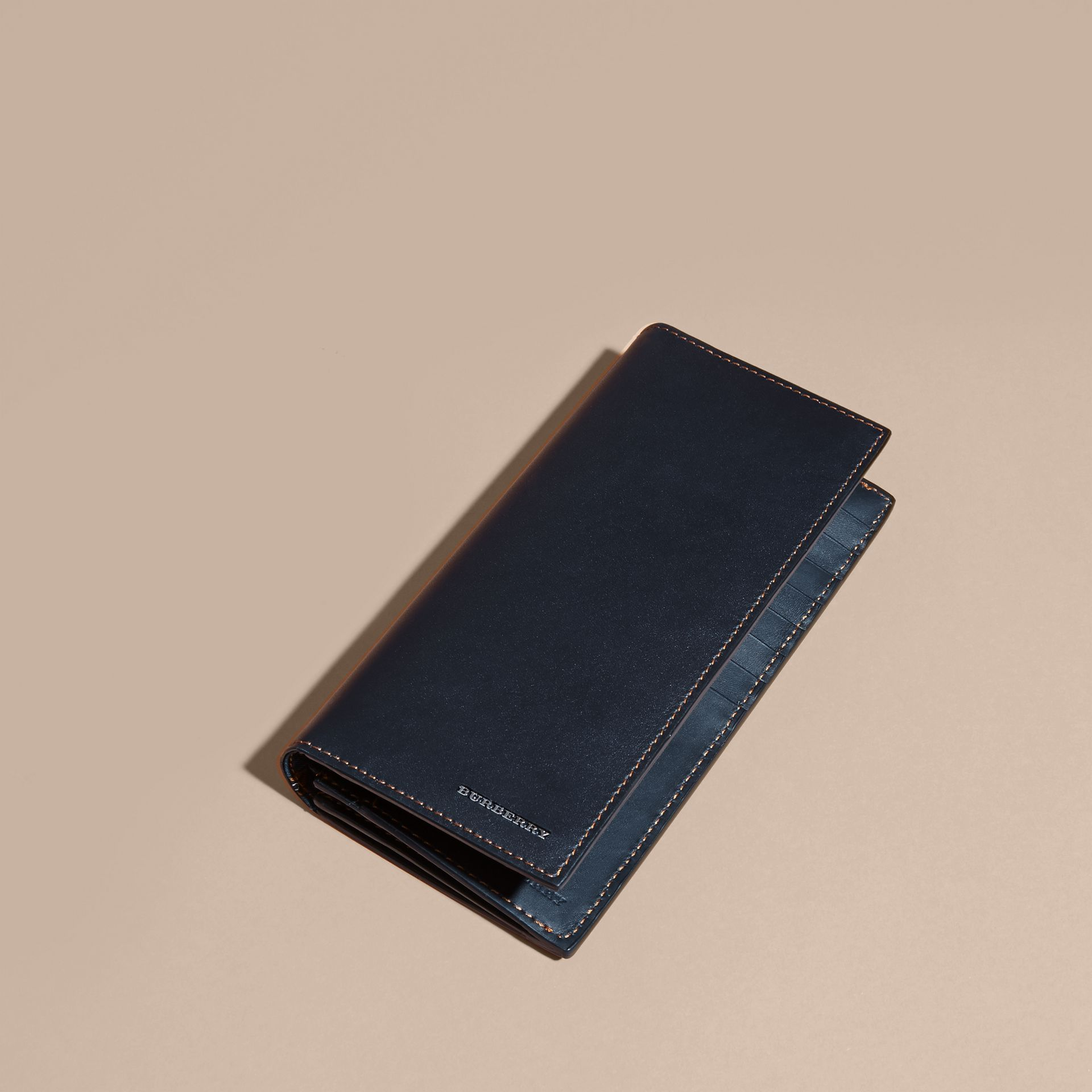 Dark navy Smooth Leather Continental Wallet Dark Navy - gallery image 3
