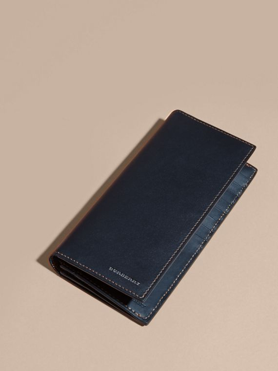 Dark navy Smooth Leather Continental Wallet Dark Navy - cell image 2