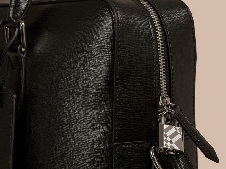 Black Large London Leather Briefcase Black - cell image 4
