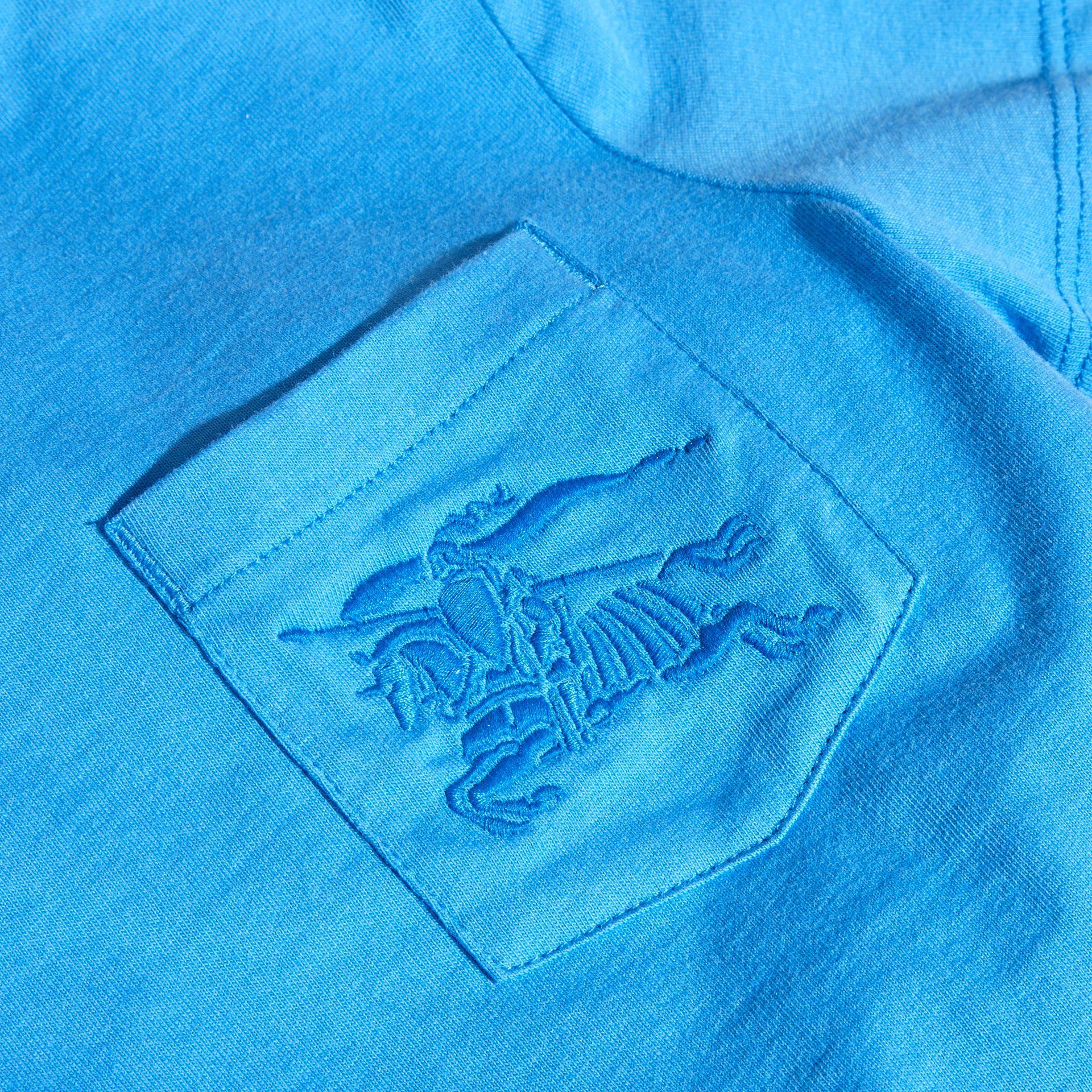 Chalk blue Crew Neck Cotton T-shirt Chalk Blue - gallery image 2