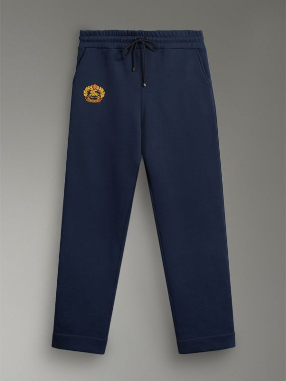 Archive Logo Jersey Sweatpants in Dark Blue - Men | Burberry Hong Kong - cell image 3