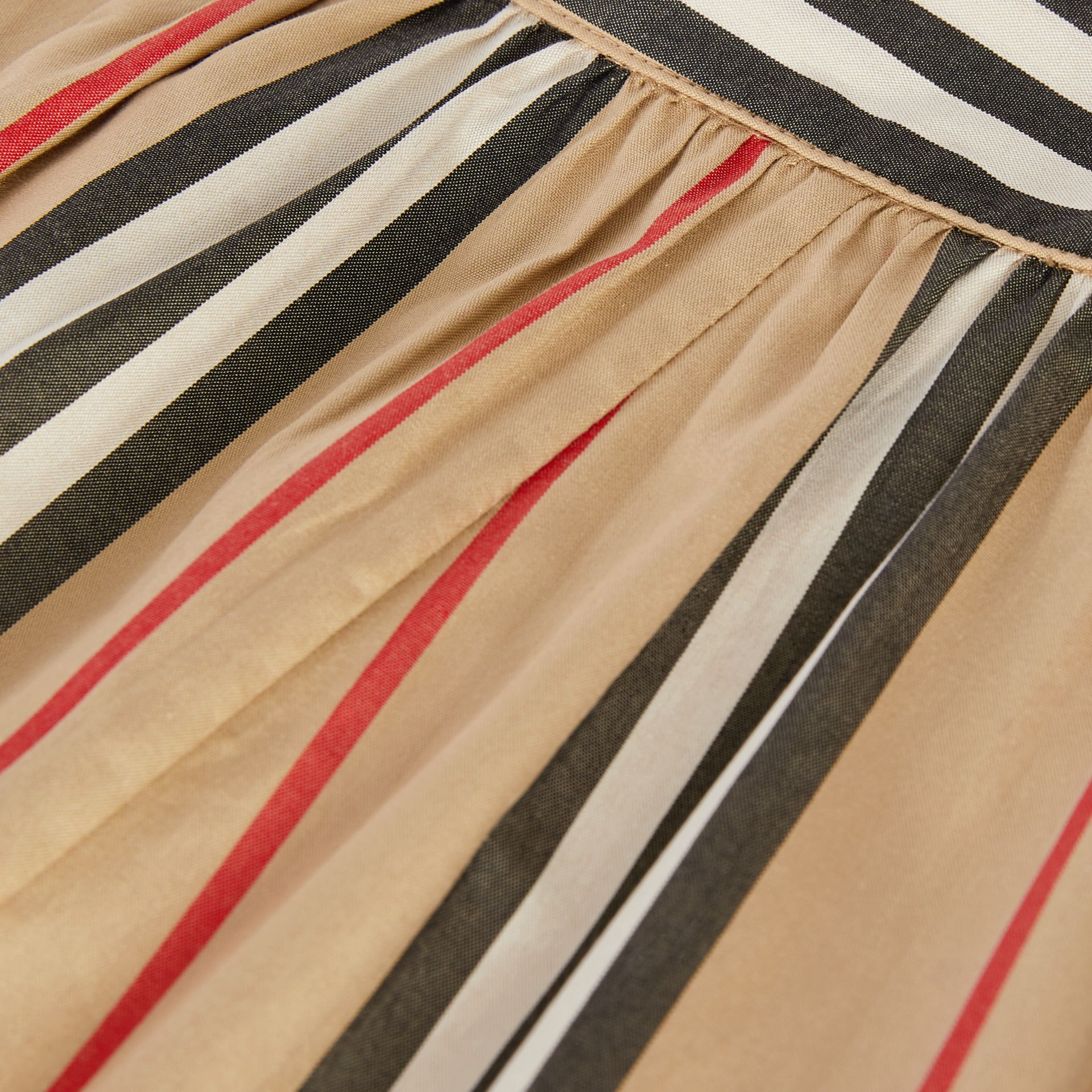 Pantalon en popeline de coton à rayures iconiques (Beige D'archive) - Enfant | Burberry Canada - photo de la galerie 1